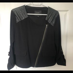 Sanctuary Jacket with leather detail